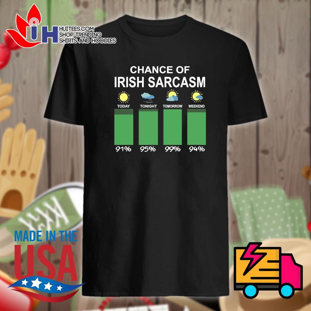 Chance of Irish sarcasm shirt