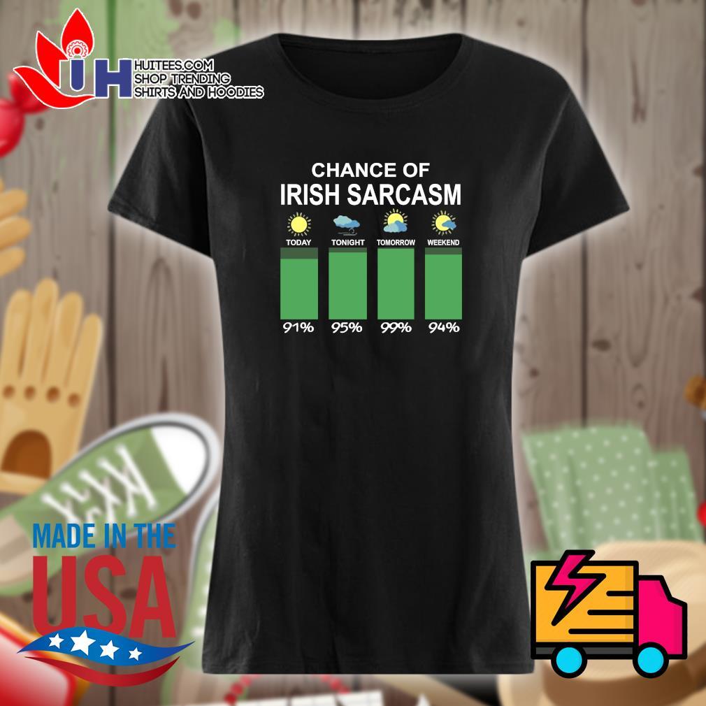 Chance of Irish sarcasm s Ladies t-shirt