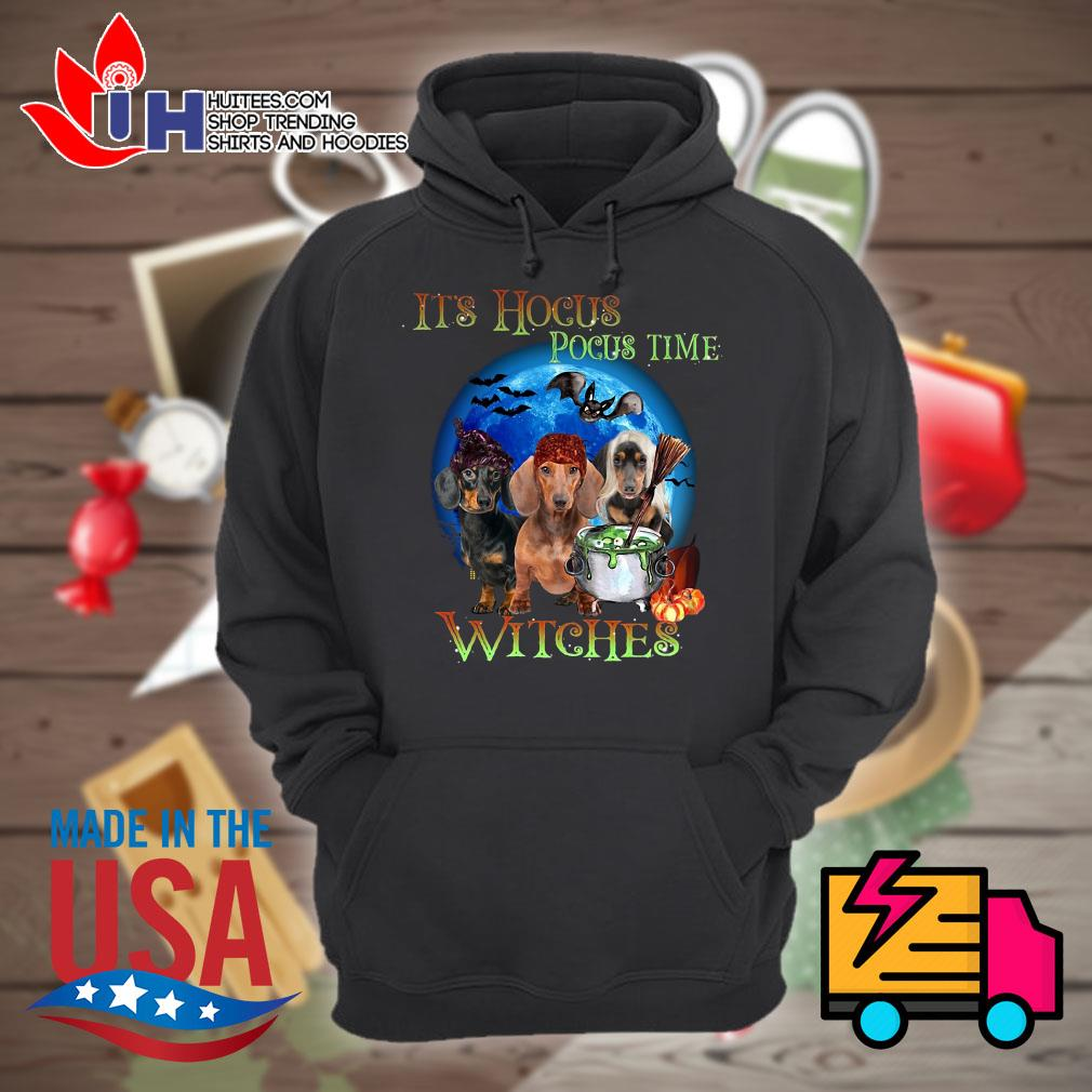 Halloween Dachshund it's Hocus Pocus time Witches s Hoodie
