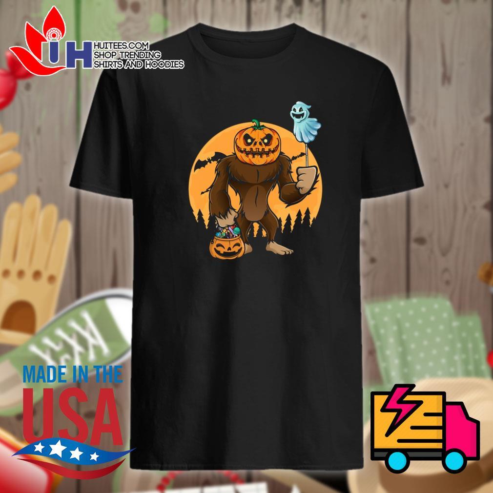 Halloween Bigfoot Pumpkin Head shirt