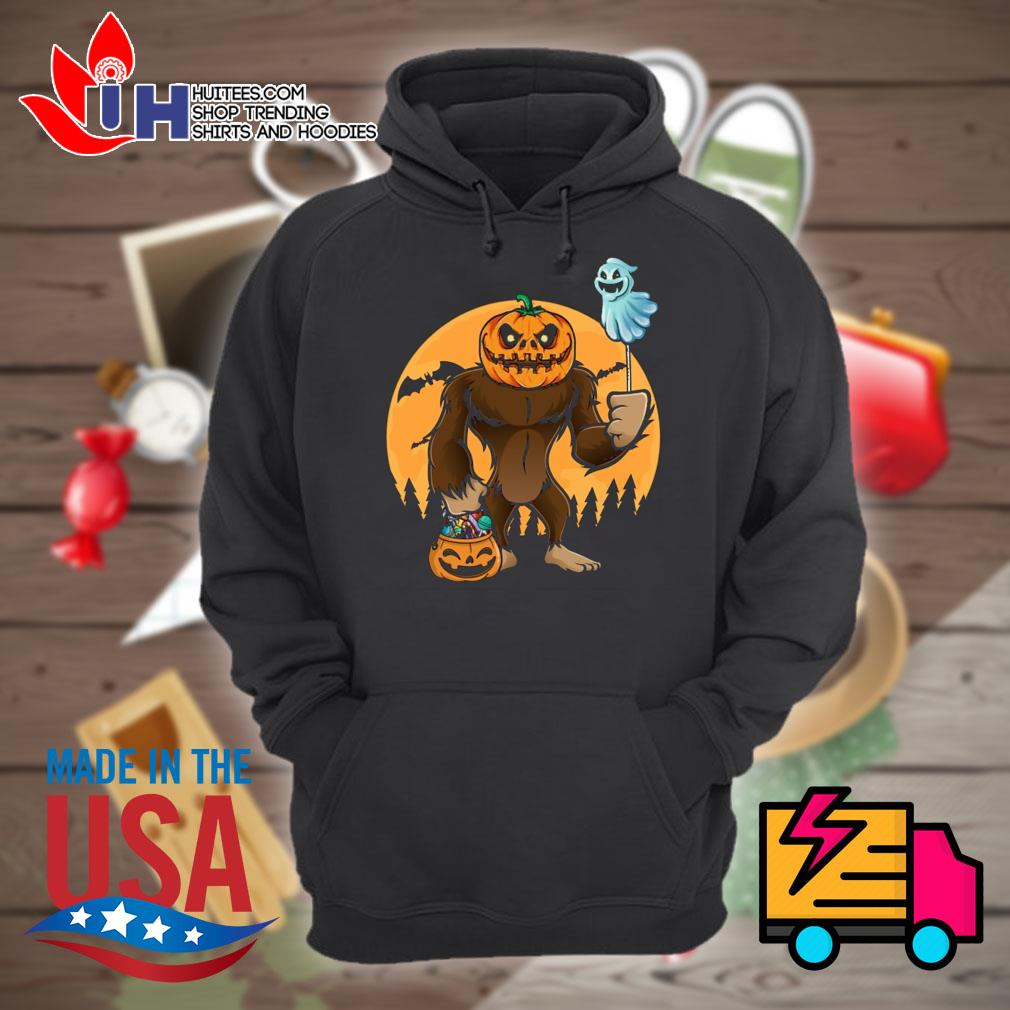 Halloween Bigfoot Pumpkin Head s Hoodie