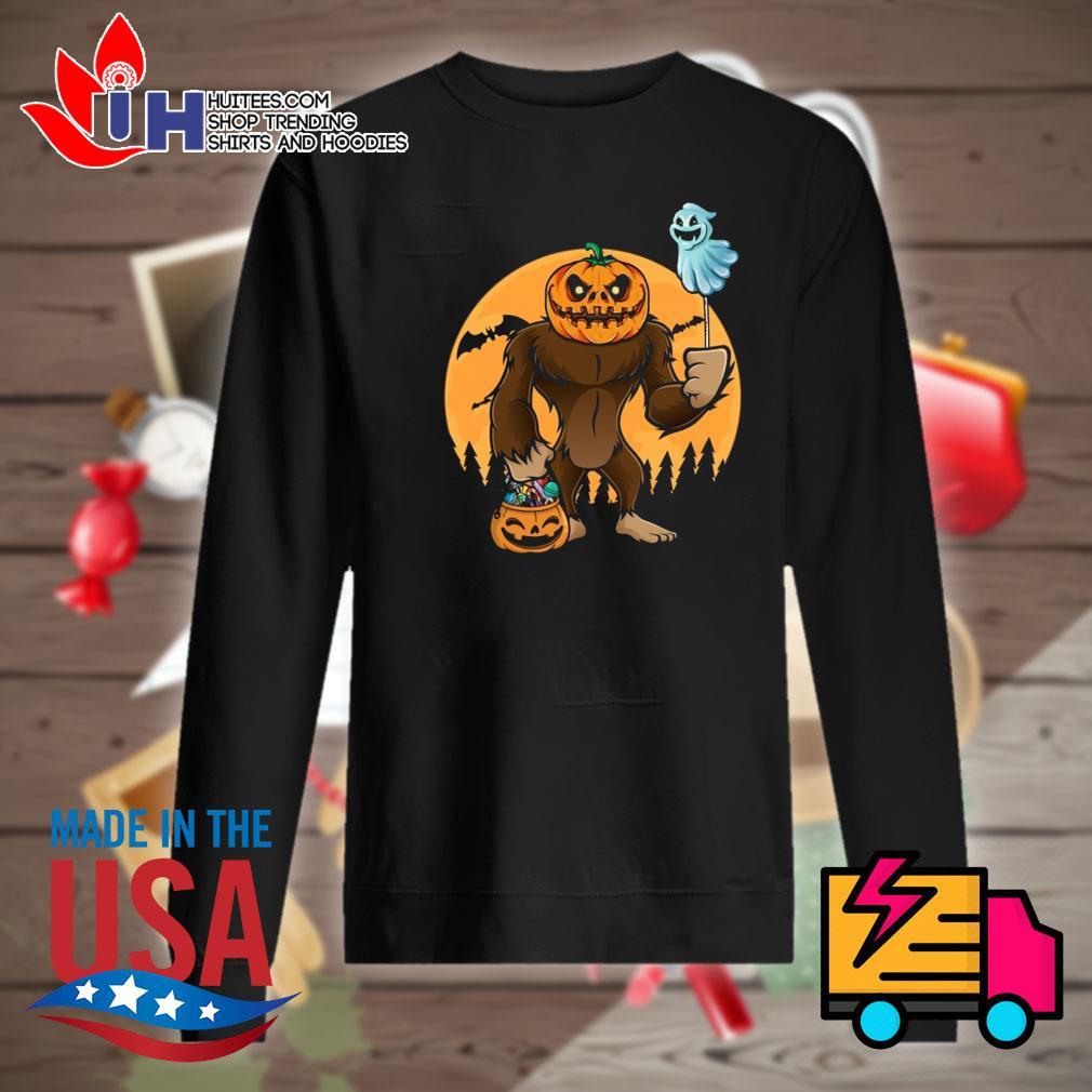 Halloween Bigfoot Pumpkin Head s Sweater