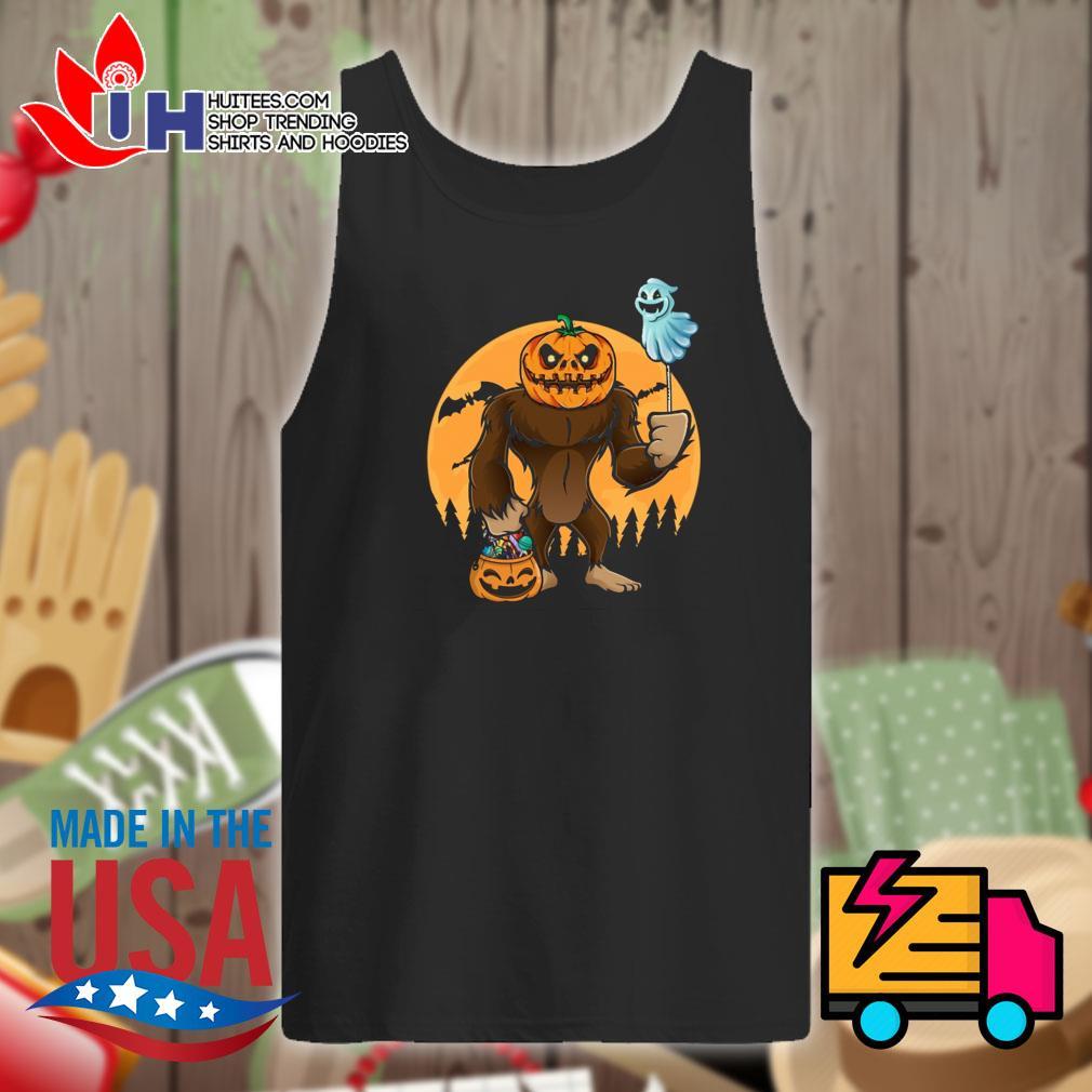 Halloween Bigfoot Pumpkin Head s Tank-top