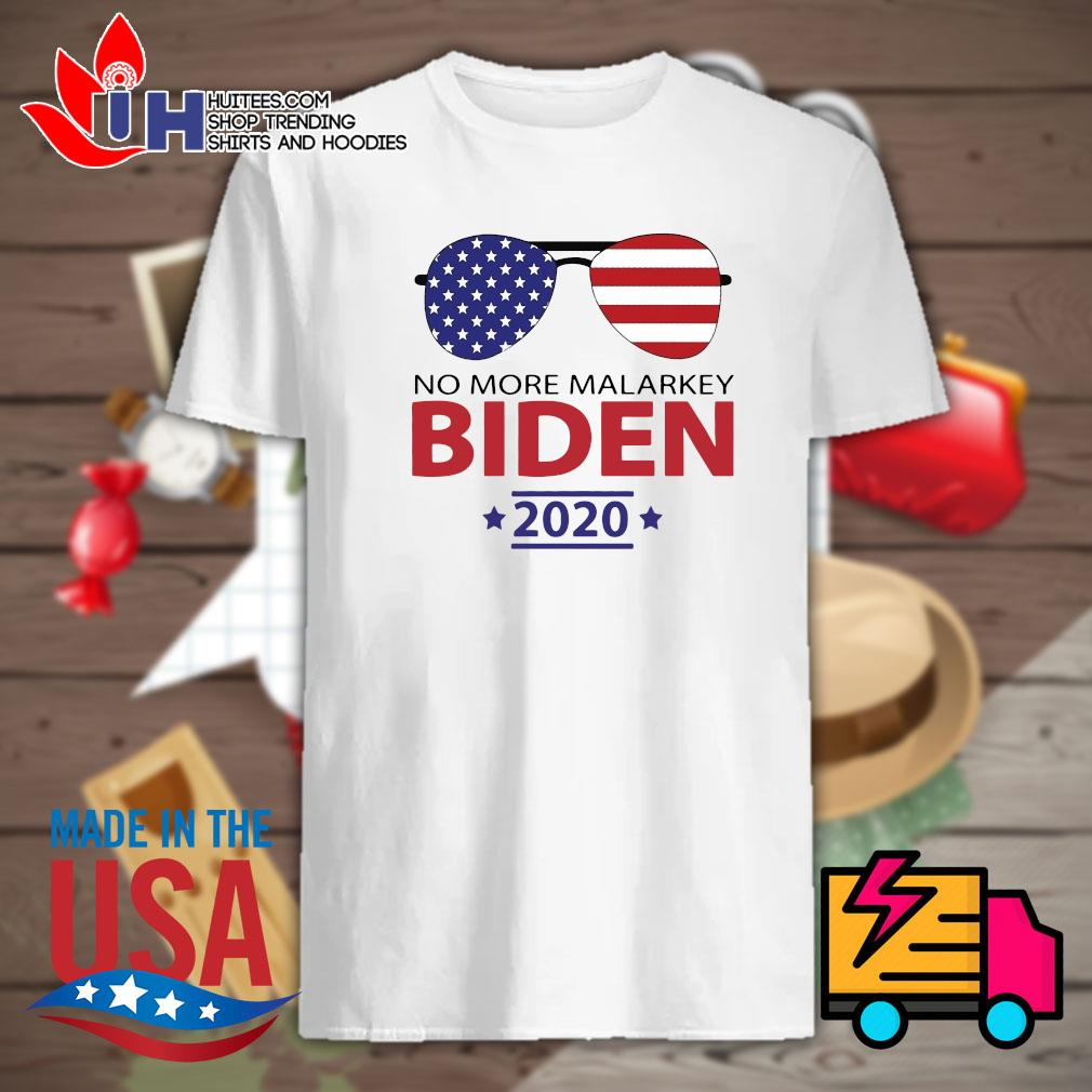 Joe Biden no more malarkey American flag 2020 shirt