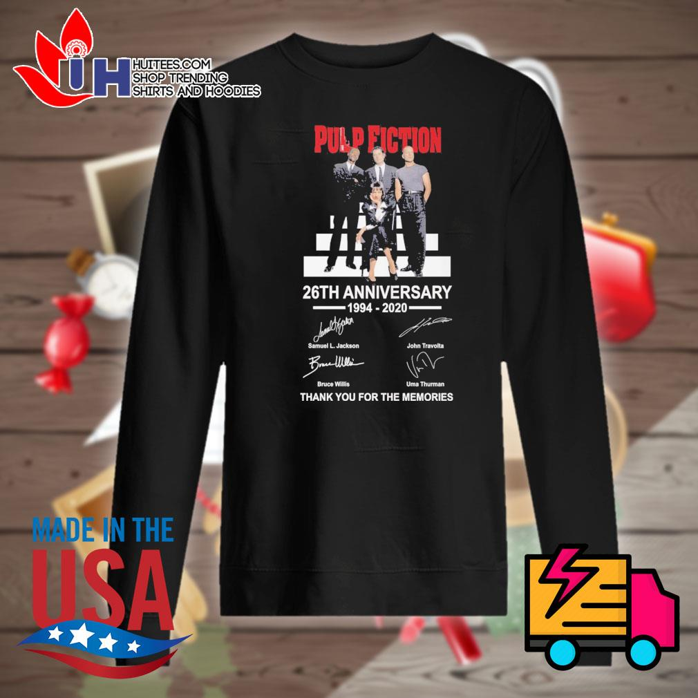 Pulp Fiction 26th anniversary 1994 2020 signatures thank you for the memories s Sweater