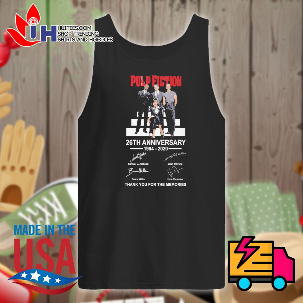 Pulp Fiction 26th anniversary 1994 2020 signatures thank you for the memories s Tank-top