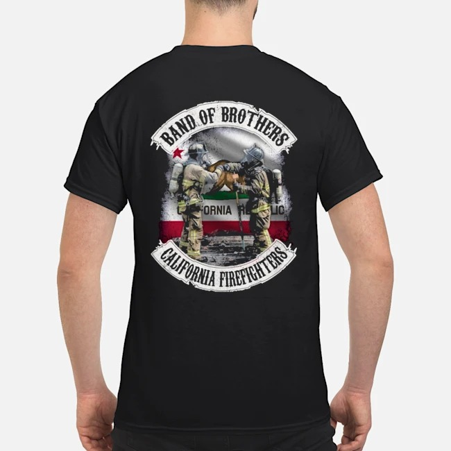 California Republic Band of Brothers California firefighters shirt