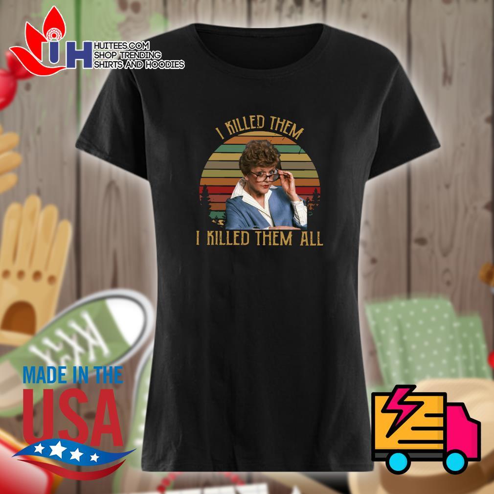 Jessica Fletcher I killed them I killed them all vintage s Ladies t-shirt