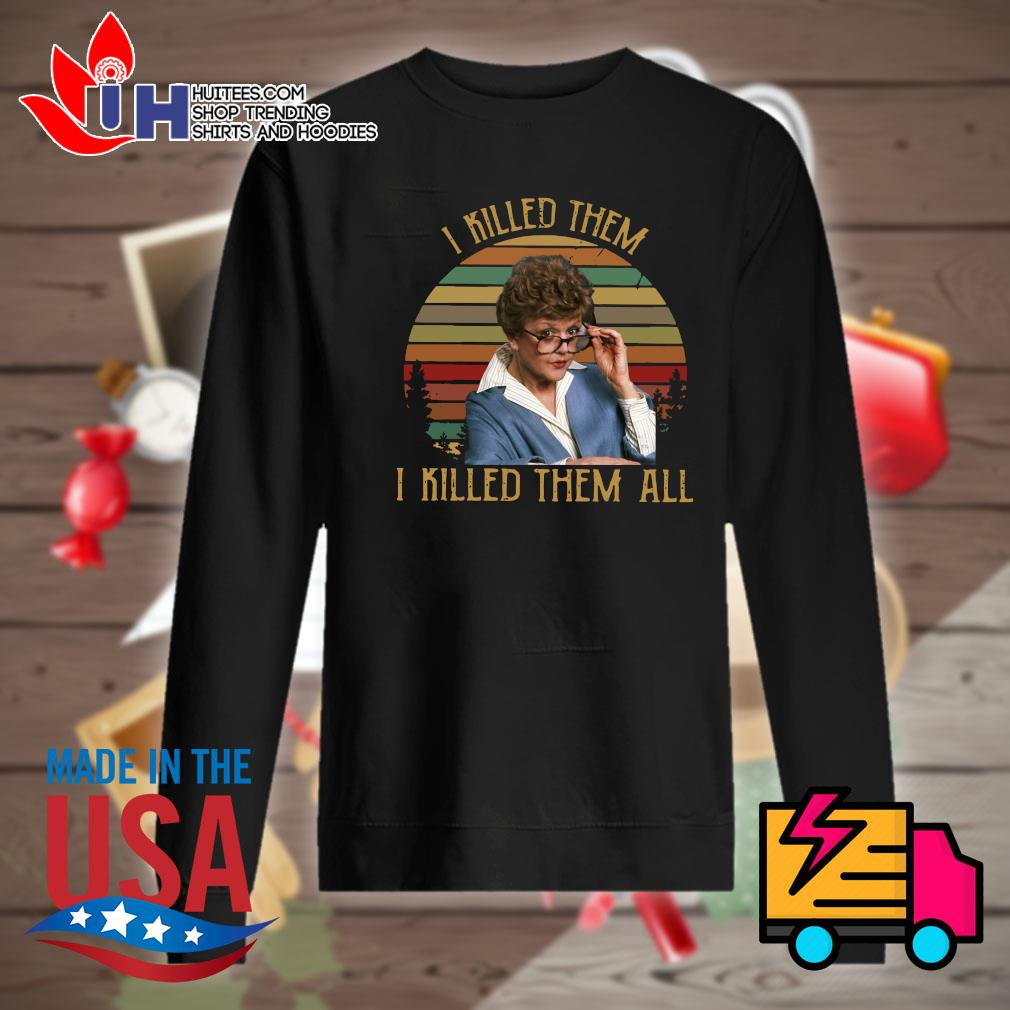 Jessica Fletcher I killed them I killed them all vintage s Sweater