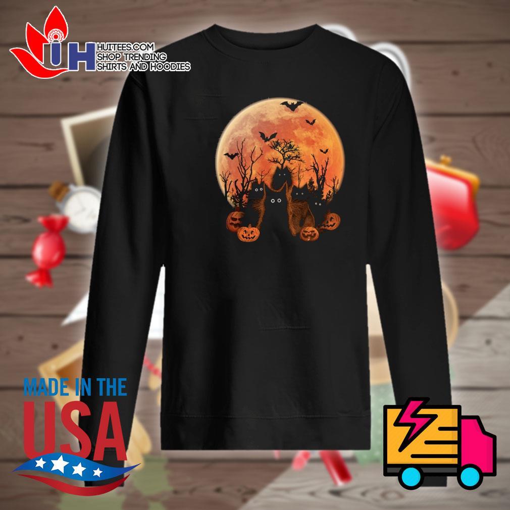Halloween Black cats on the moon s Sweater