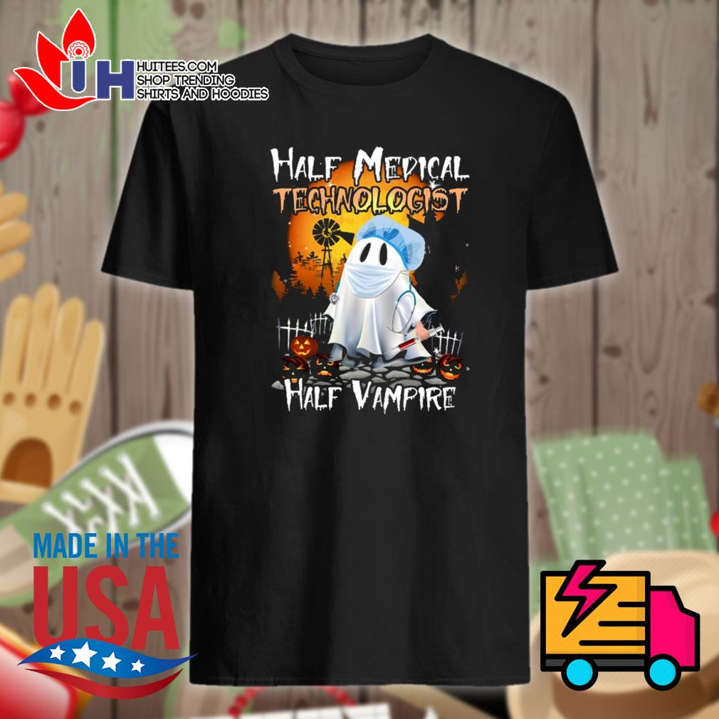 Halloween Half medical technologist Half Vampire shirt