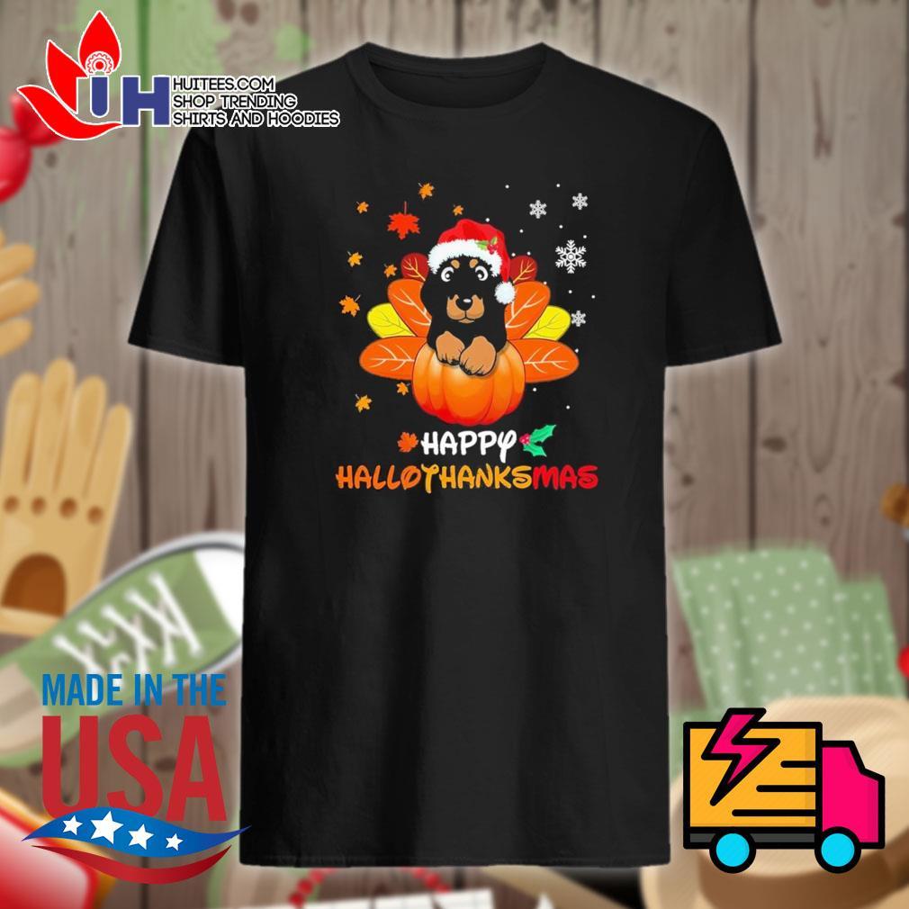 Dachshund happy hallothanksmas shirt