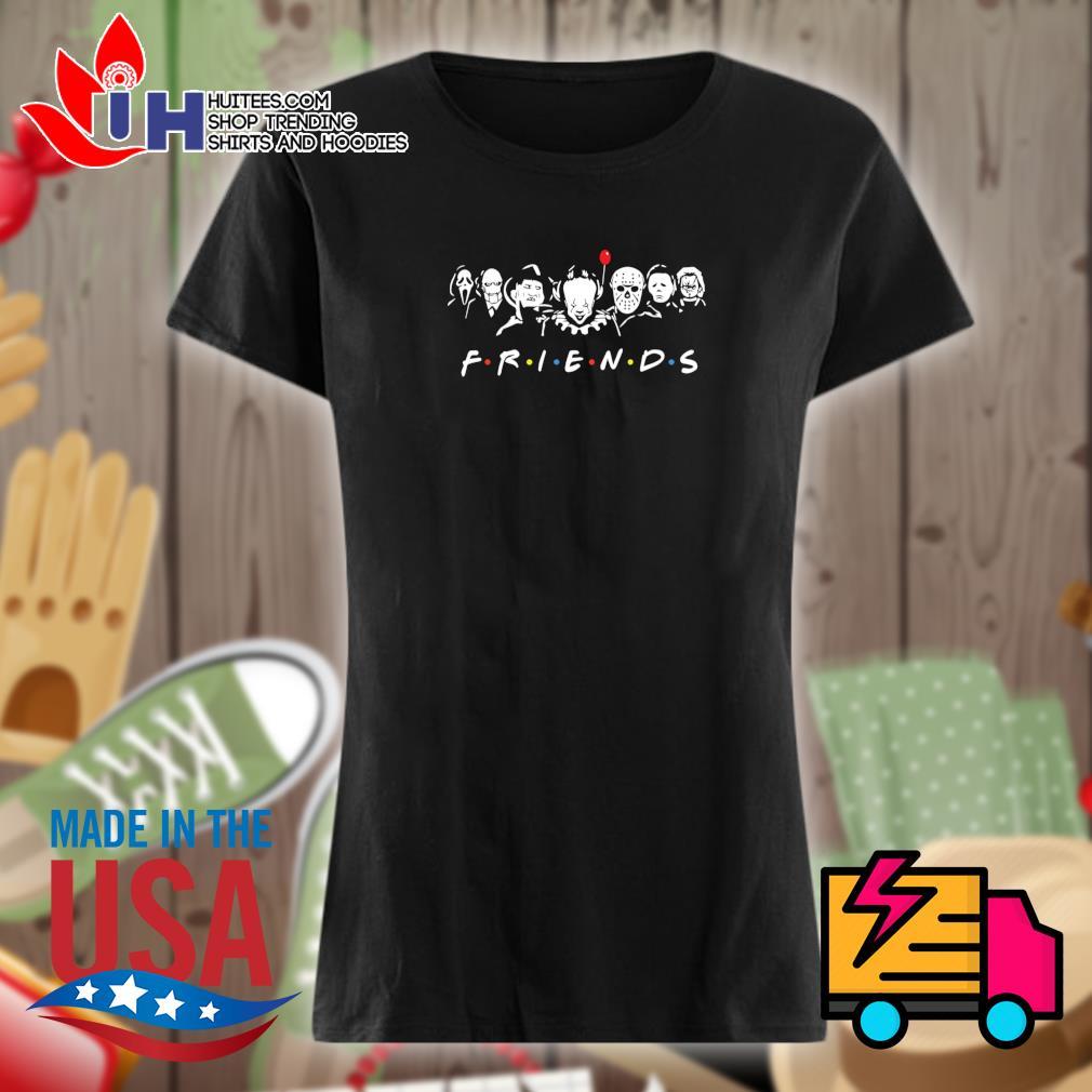 Horror movie characters Friends Halloween s Ladies t-shirt
