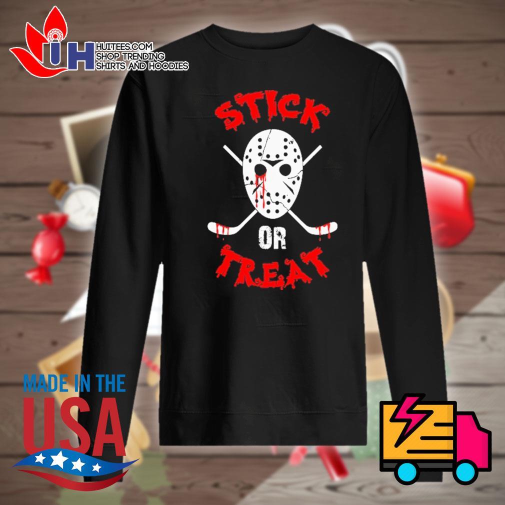 Jack Voorhees face Stick or Treat Hockey Halloween s Sweater