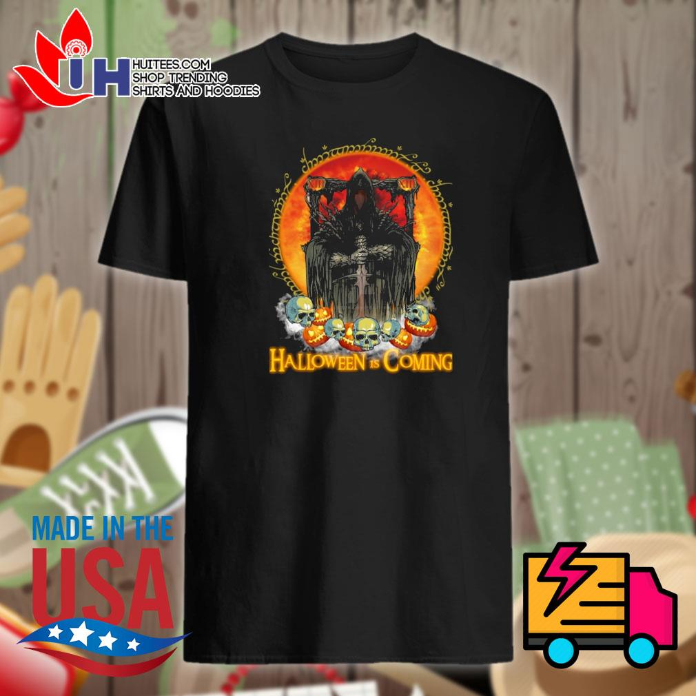 Death Sword skull Halloween is coming shirt