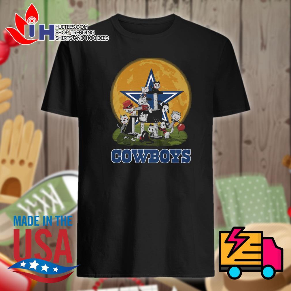 Dallas Cowboys Horror cats Halloween shirt