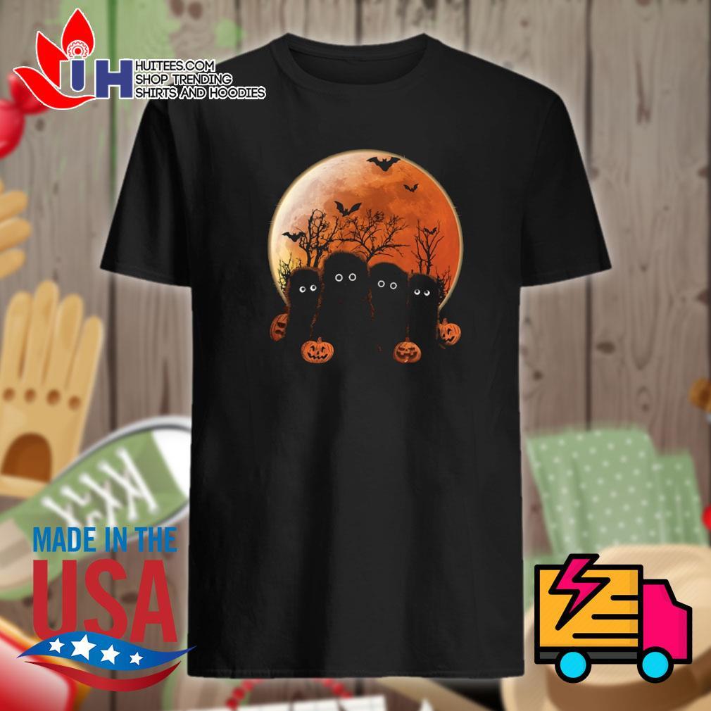 Otters pumpkin moon Halloween shirt