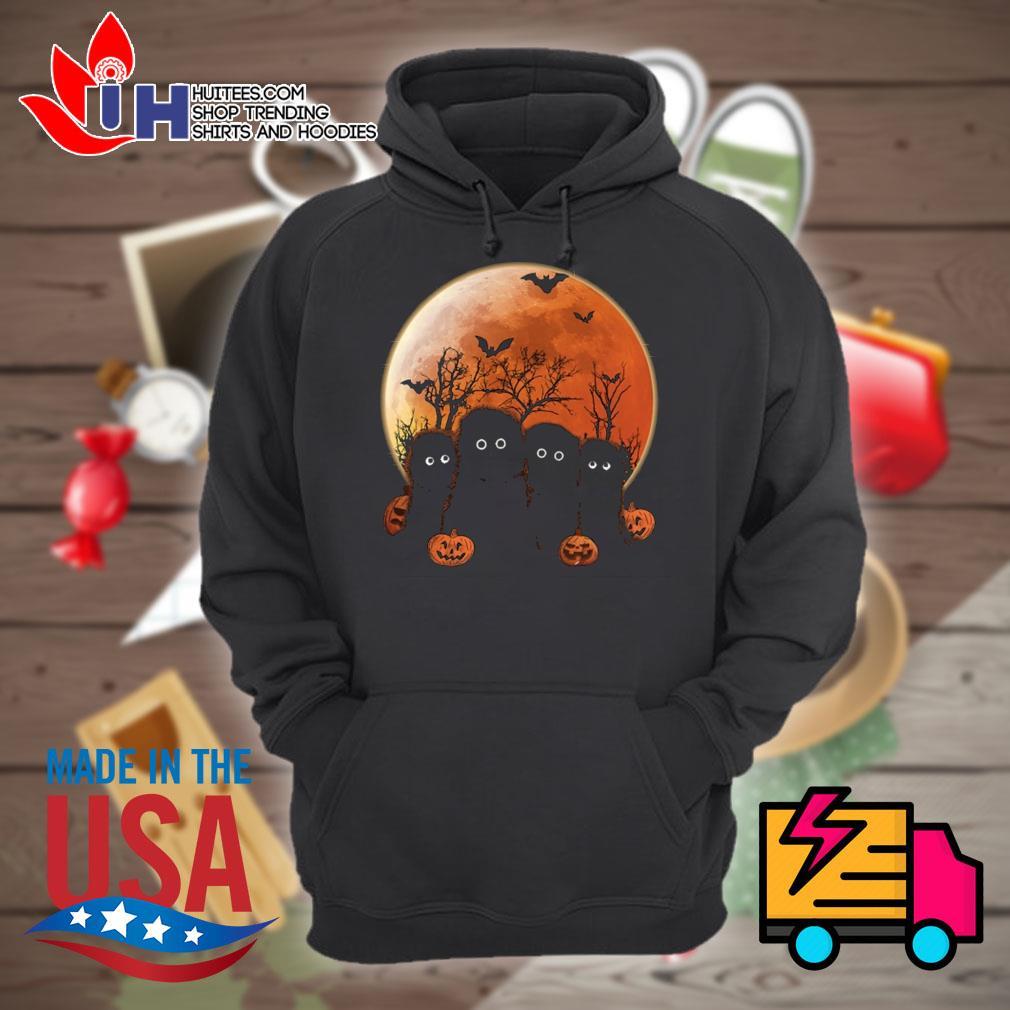 Otters pumpkin moon Halloween s Hoodie