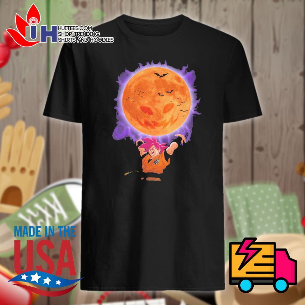 Son Goku moon pumpkin Halloween shirt