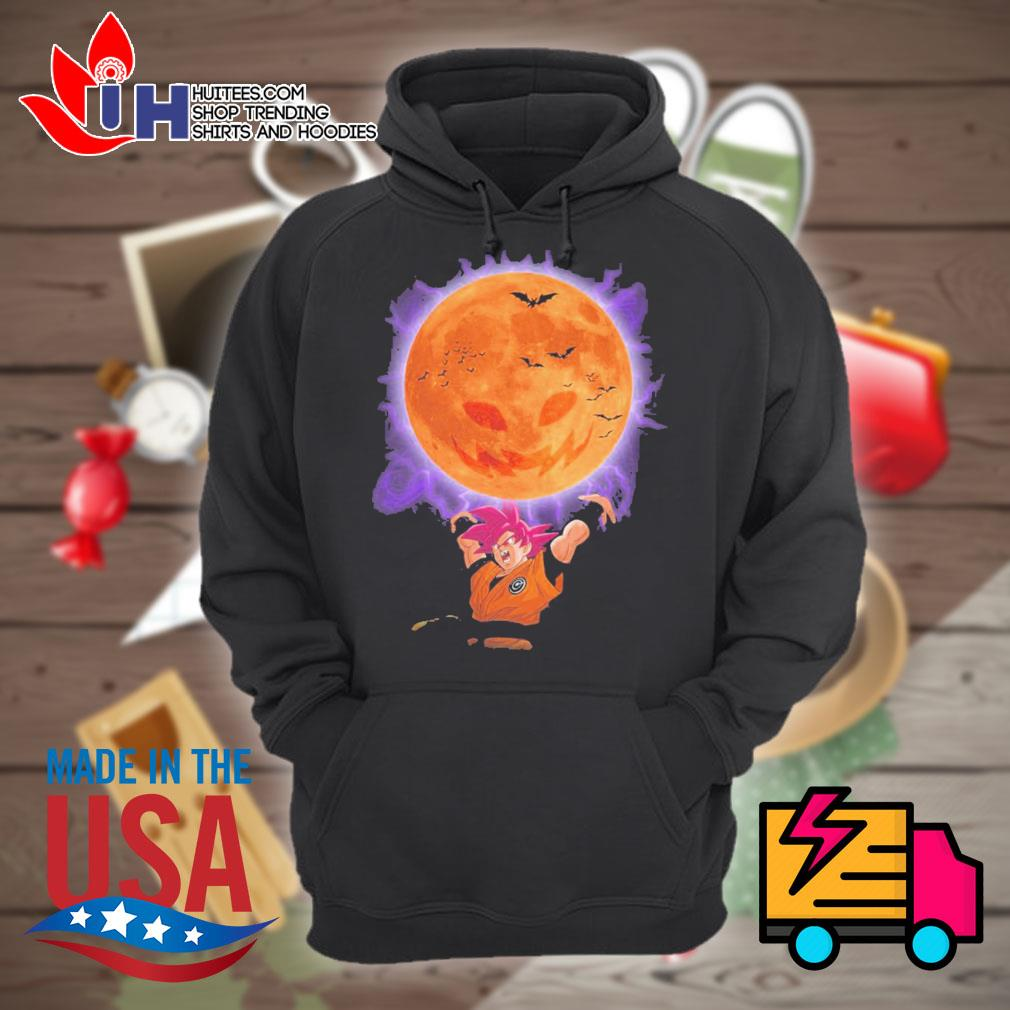 Son Goku moon pumpkin Halloween s Hoodie
