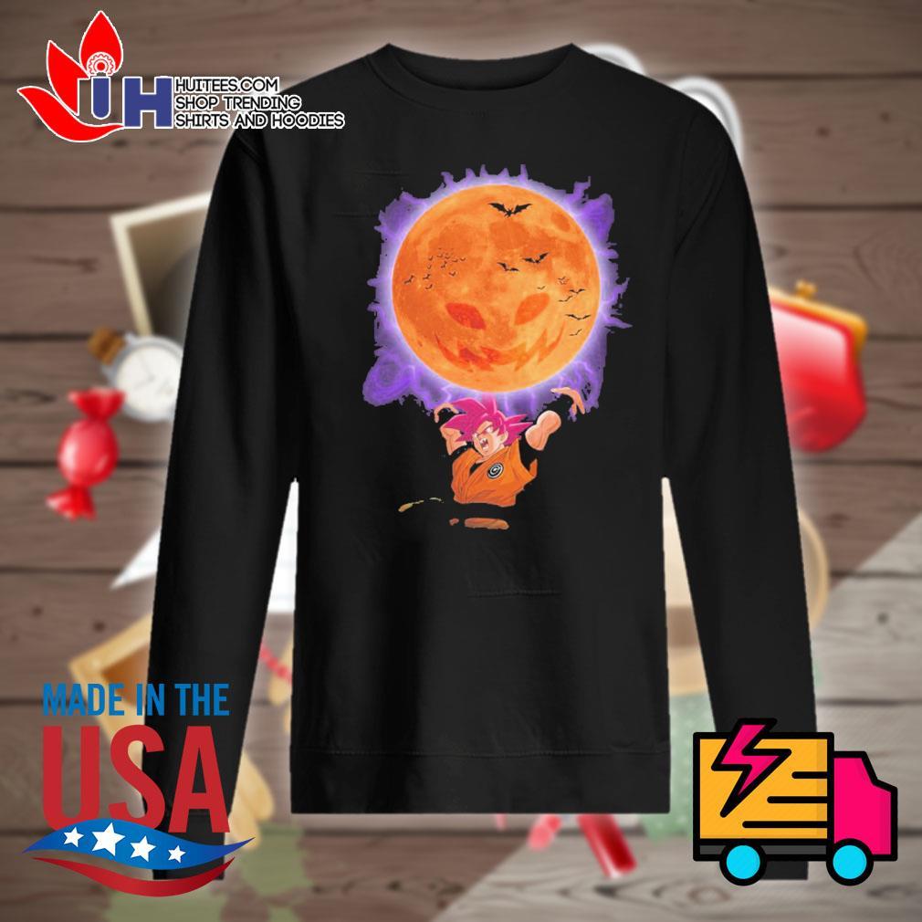 Son Goku moon pumpkin Halloween s Sweater