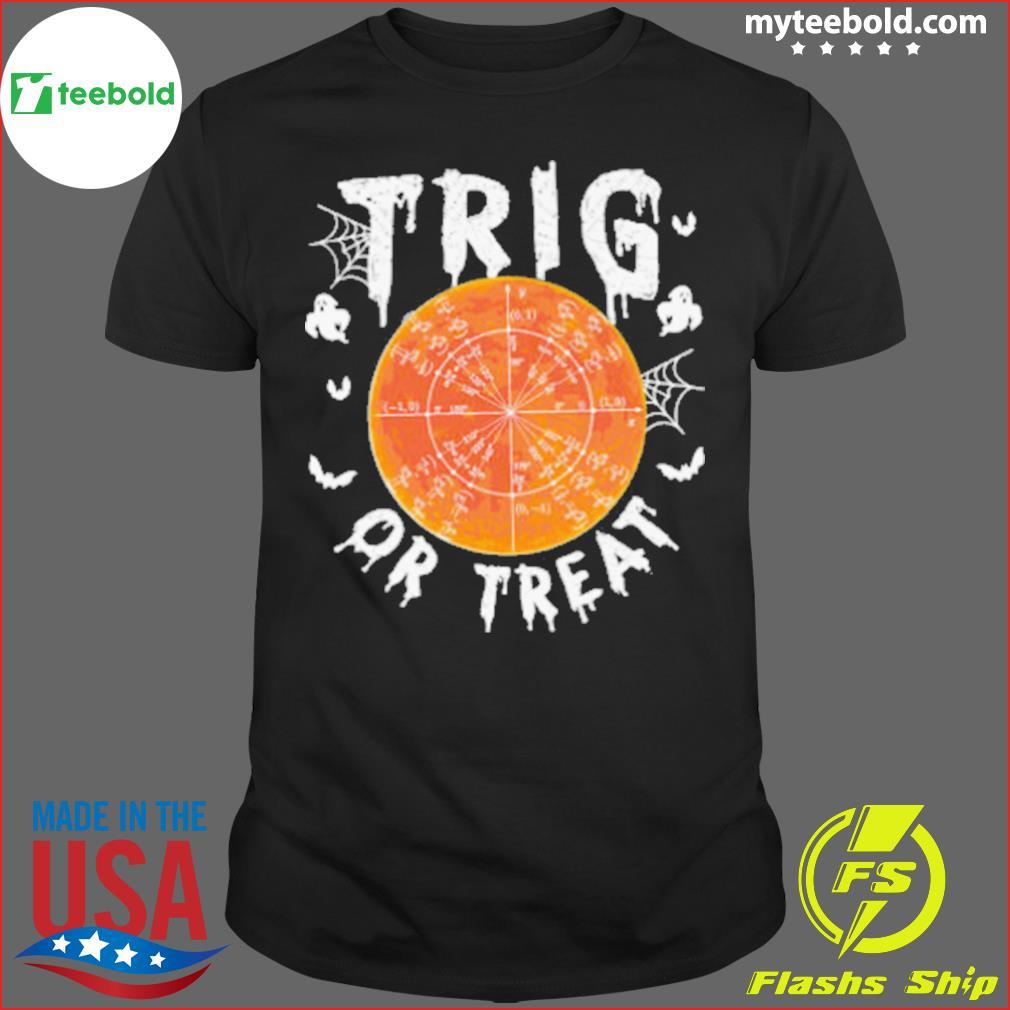 Trig or Treat Ghost Moon Maths Halloween shirt
