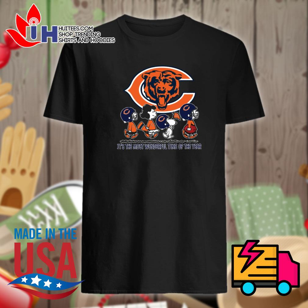 Chicago Bears the Peanuts Snoopy it's the most wonderful time of the year shirt