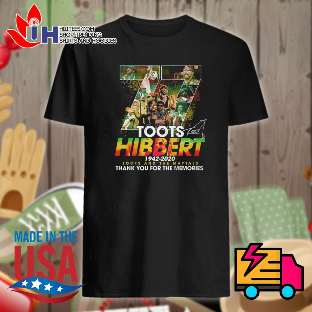 77 Toots Hibbert 1942 2020 signature thank you for the memories shirt