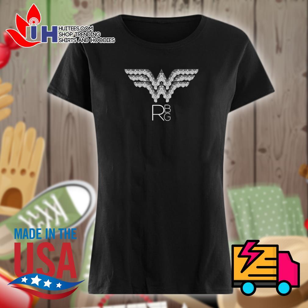 RBG Ruth Bader Ginsburg wonder woman logo s Ladies t-shirt