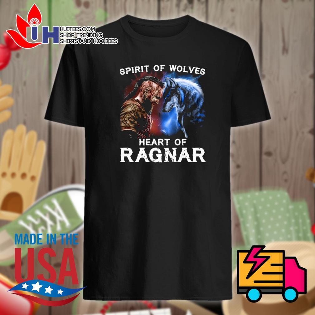 Vikings Bjorn Lothbrok spirit of wolves heart of Ragnar shirt