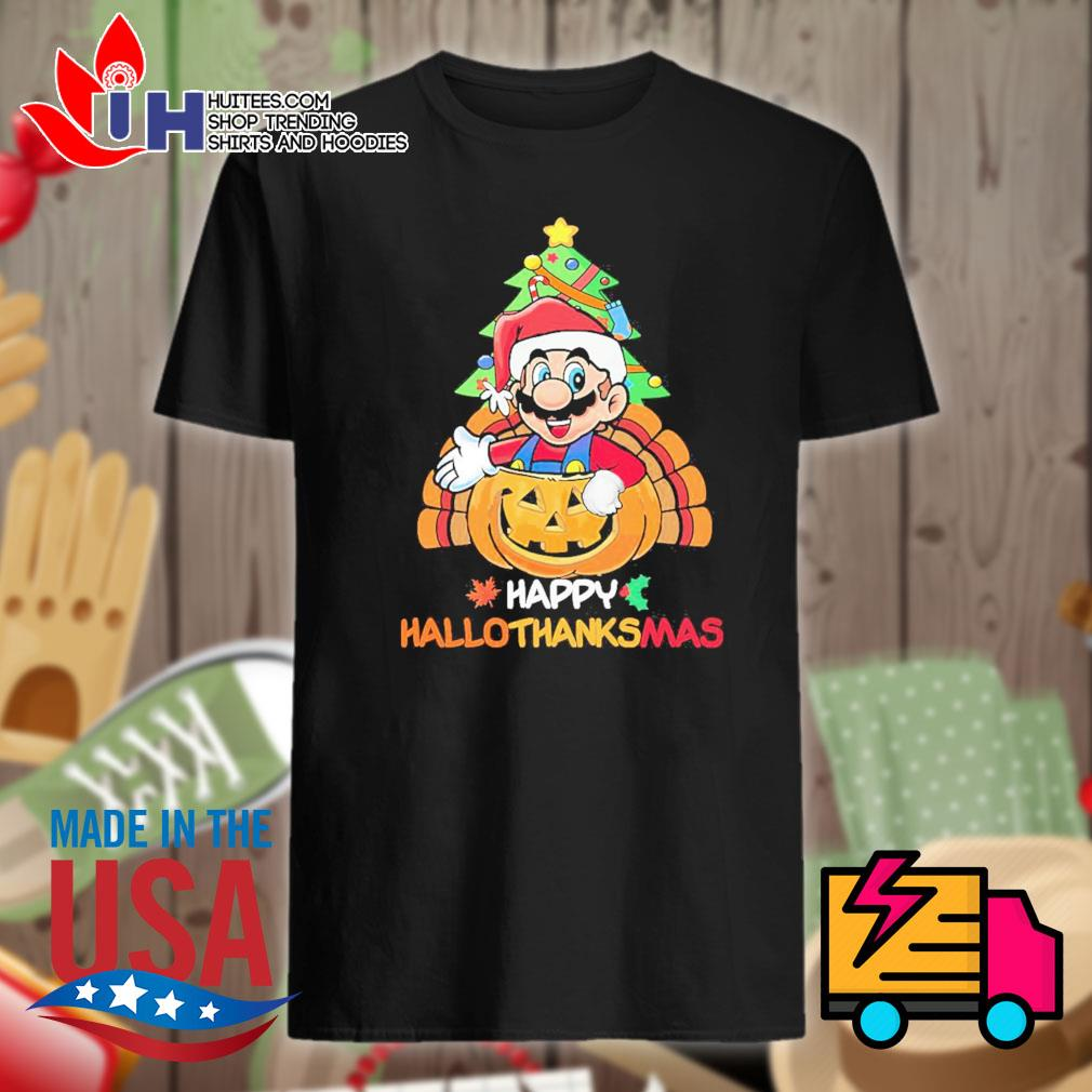 Mario Segale Happy HalloThanksMas shirt