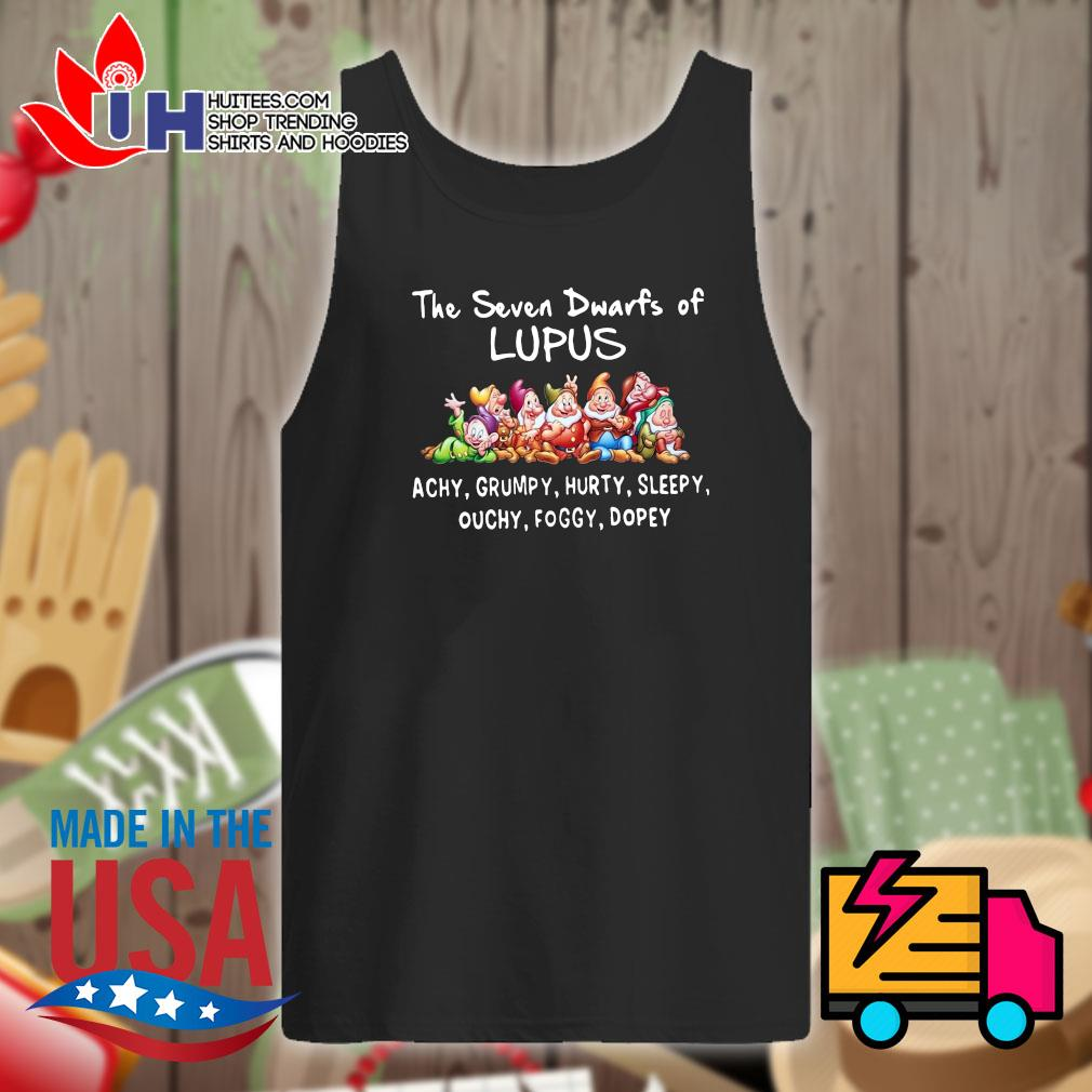 Disney the seven dwarfs of Lupus Achy Grumpy Hurty Sleepy Ouchy Foggy Dopey s Tank-top