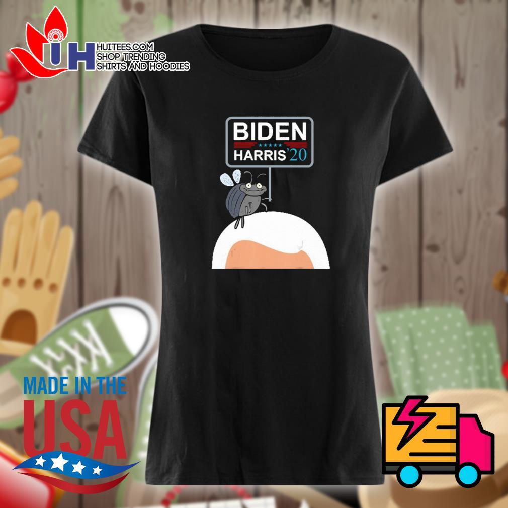 Fly on Mike Pence's Biden Harris 2020 s Ladies t-shirt