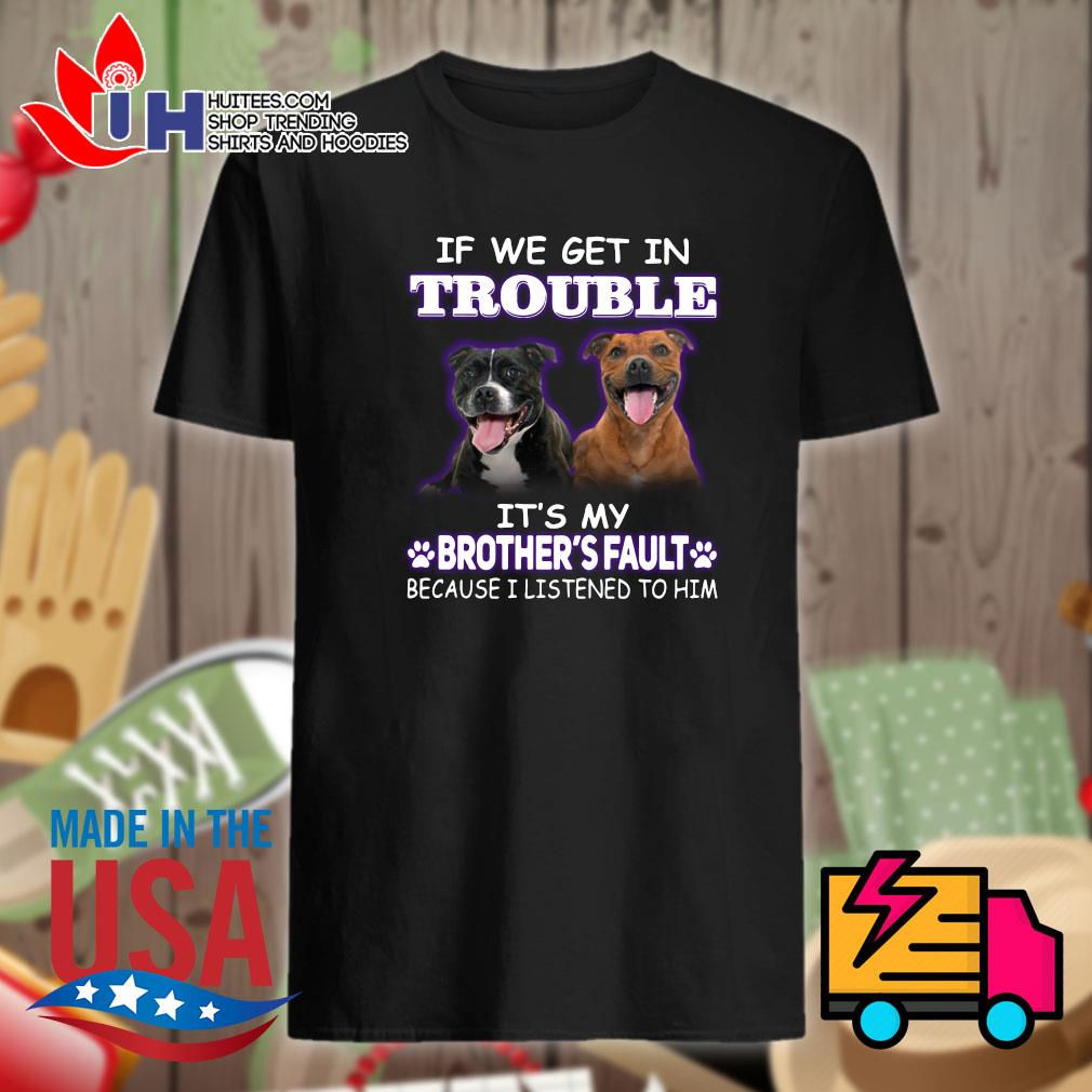 Brother Pitbull If we get in trouble it's my brother's fault because I listened to him shirt