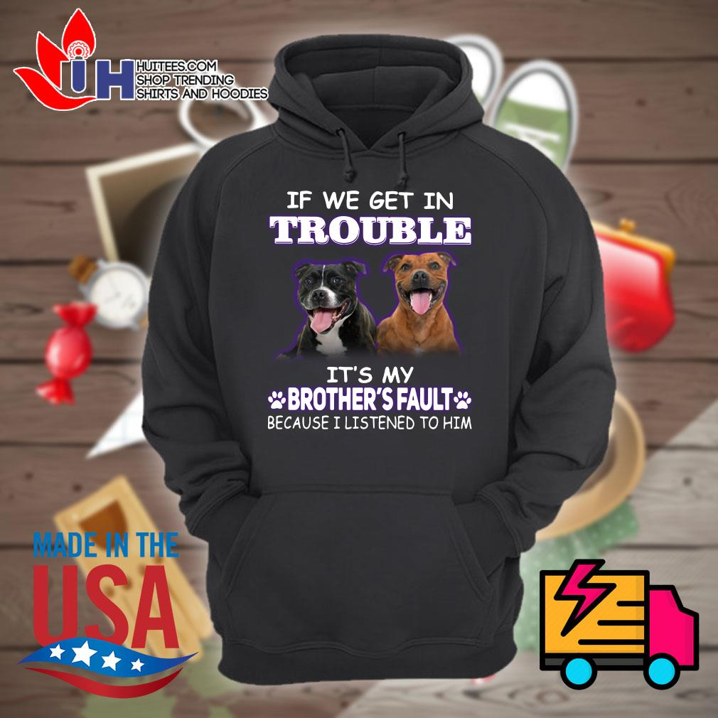 Brother Pitbull If we get in trouble it's my brother's fault because I listened to him s Hoodie