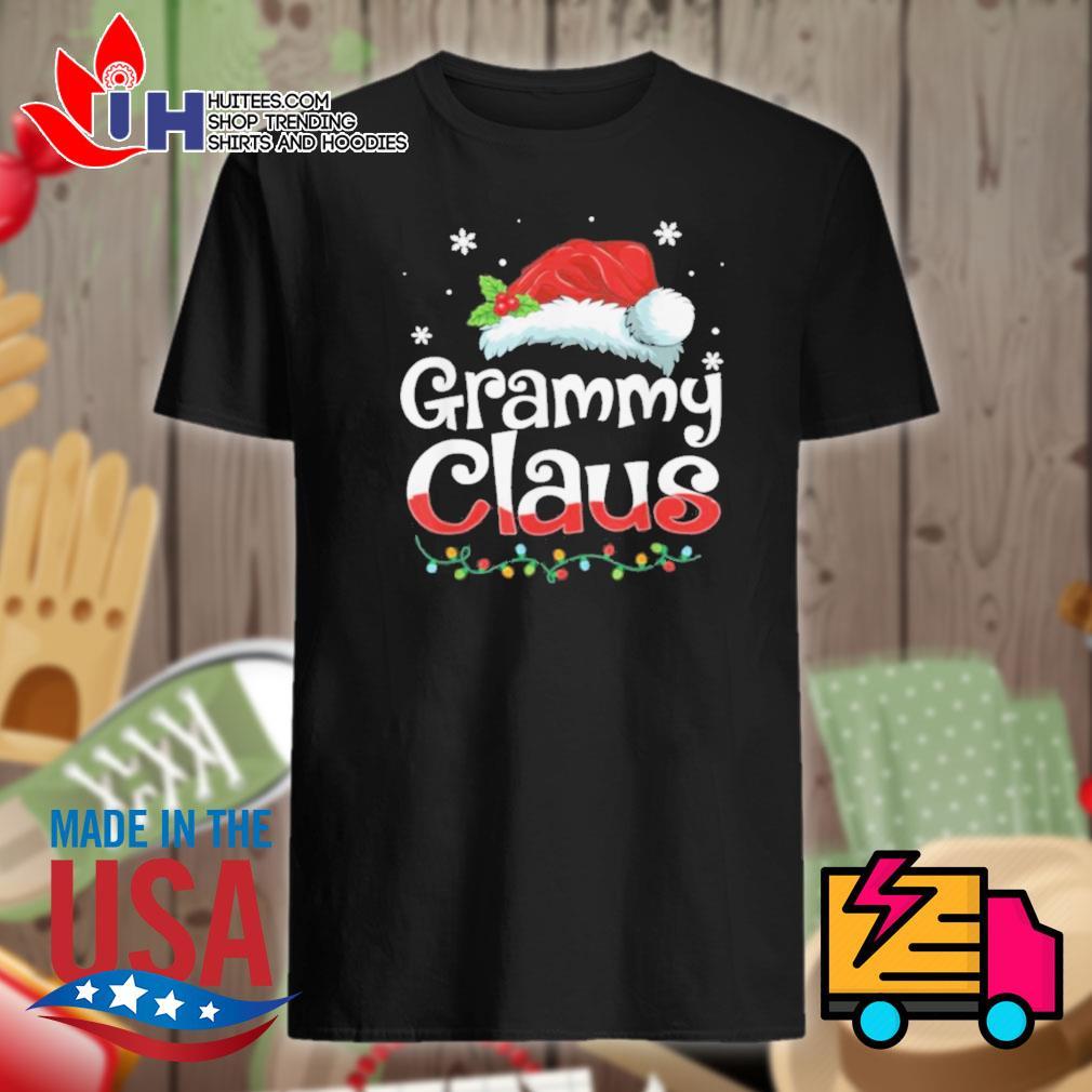 Grammy Claus Santa hat matching family Christmas Pajama shirt