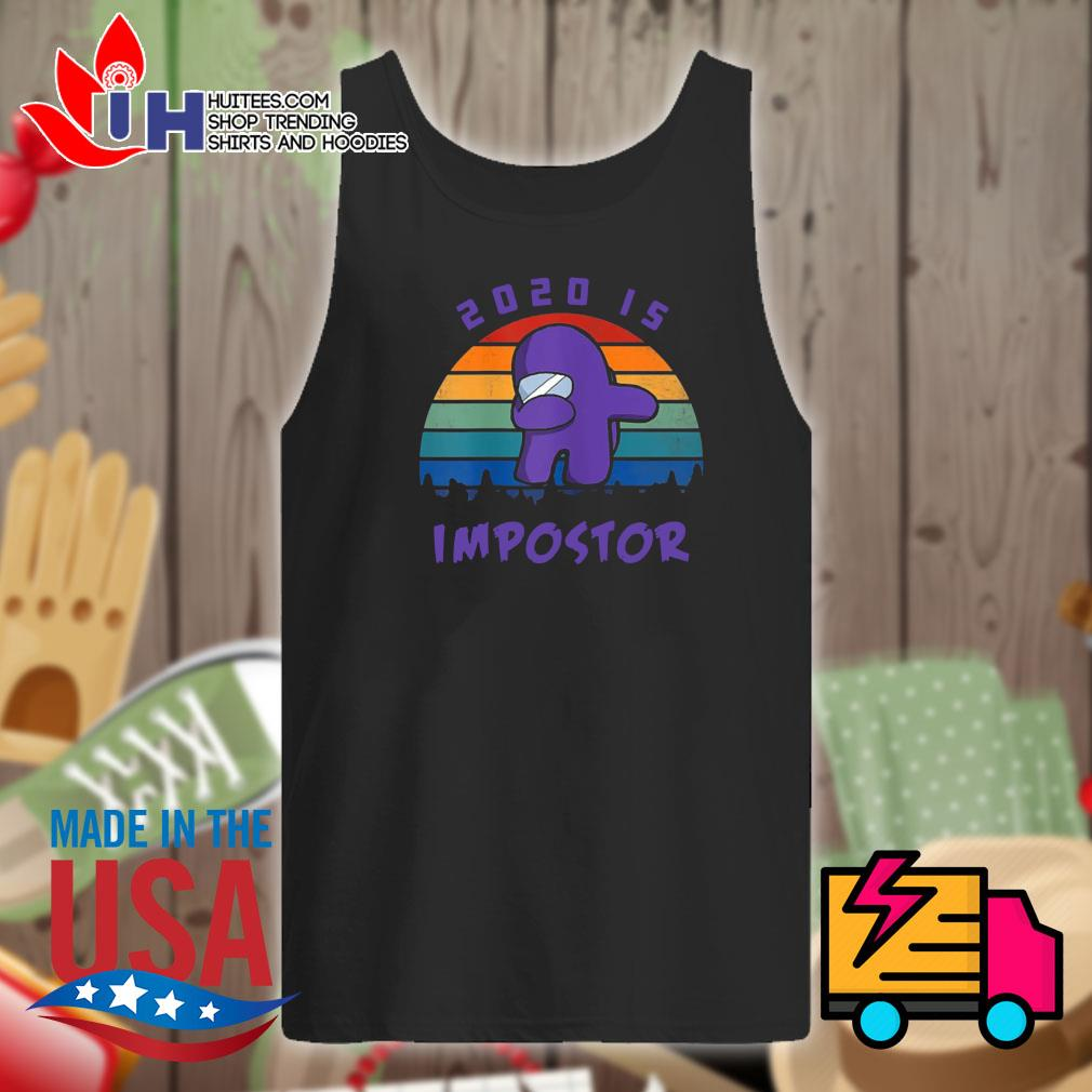 Dabbing 2020 impostor Imposter Among Game Us Sus s Tank-top