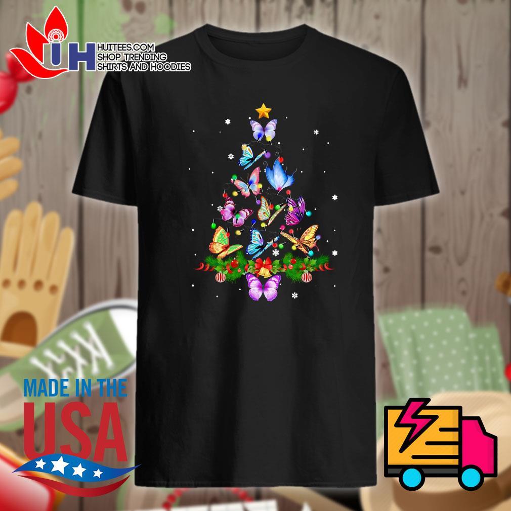 Butterfly Tree Christmas shirt