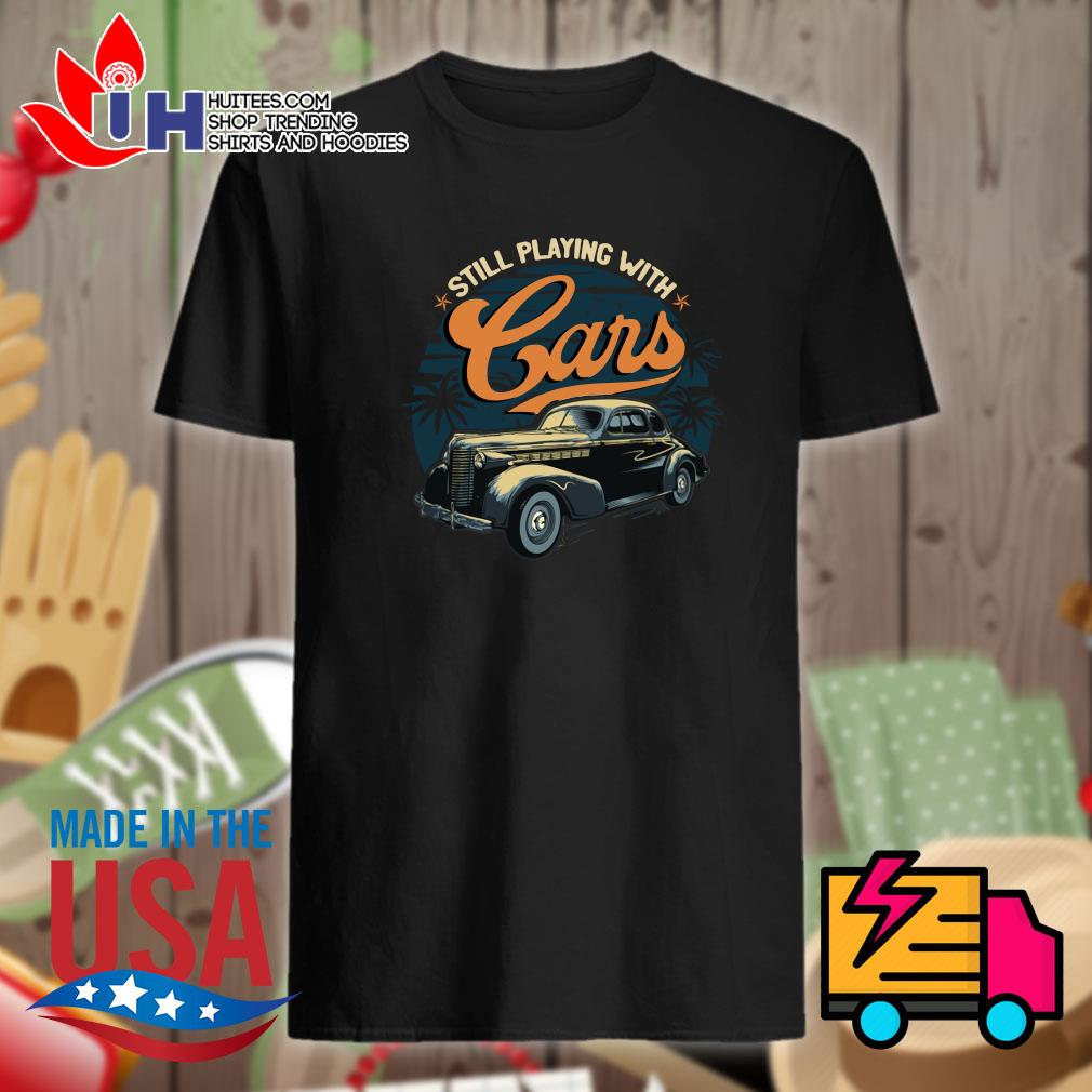 Classic Car still playing with Cars shirt