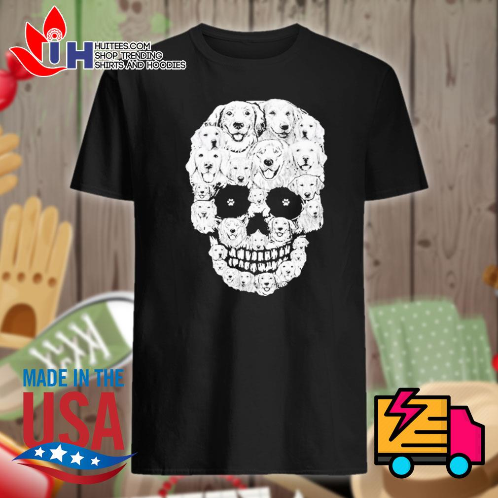 Golden Retriever Skull shirt