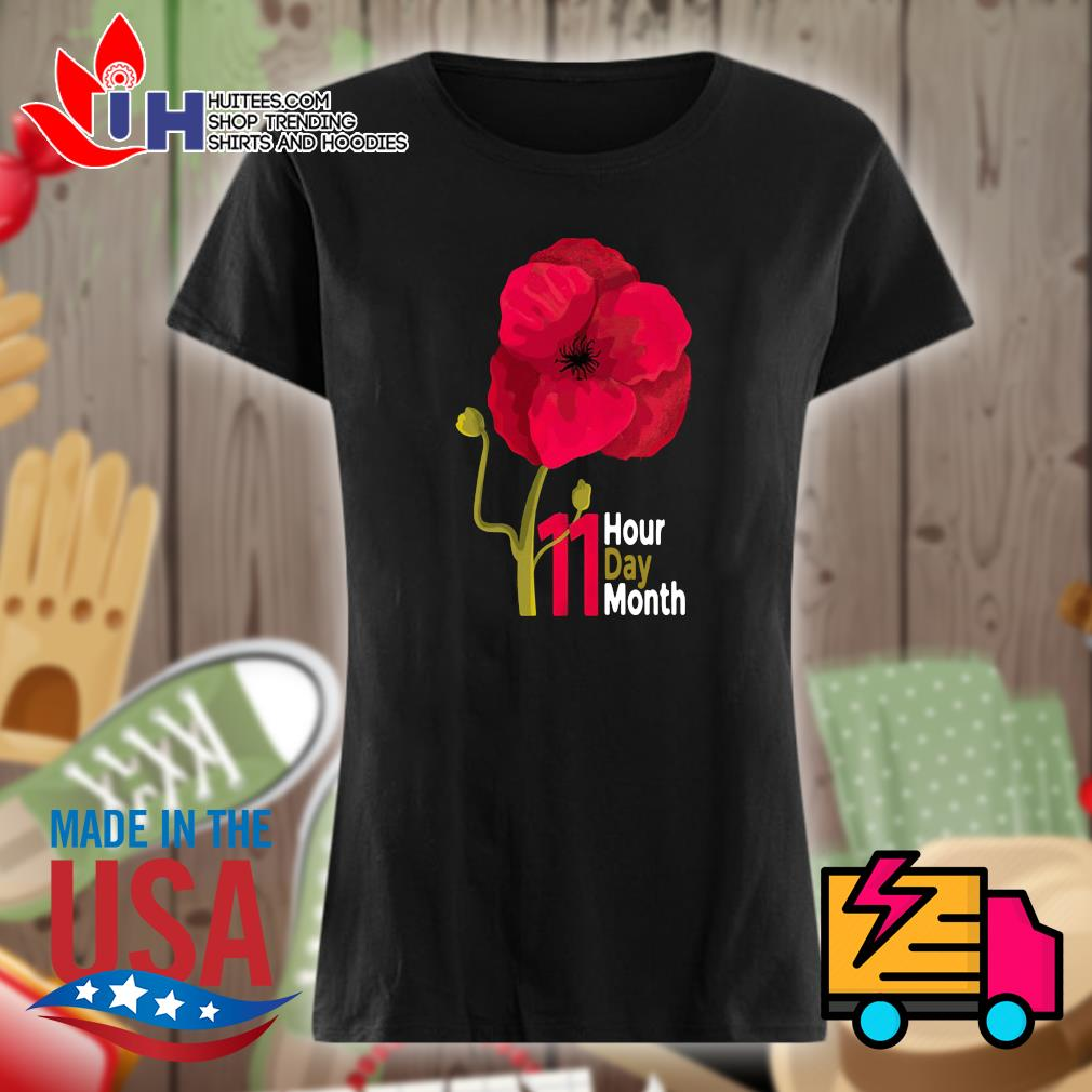 Veterans Day 2020 11 hour day month s Ladies t-shirt