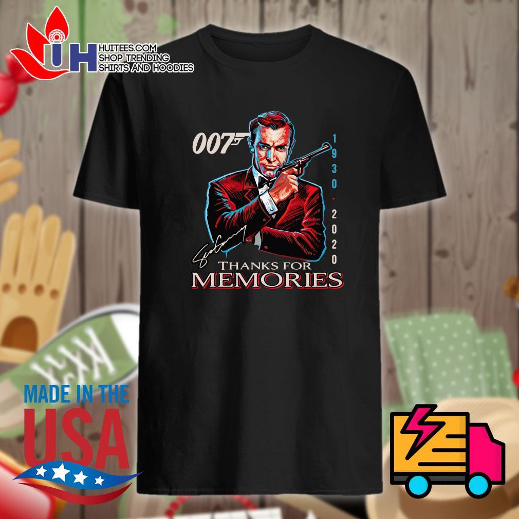007 James Bond 1930 2020 signature thank for memories shirt