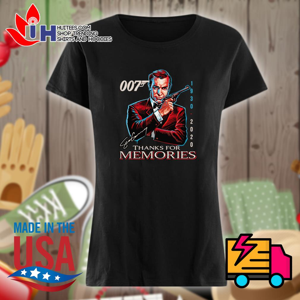 007 James Bond 1930 2020 signature thank for memories s Ladies t-shirt