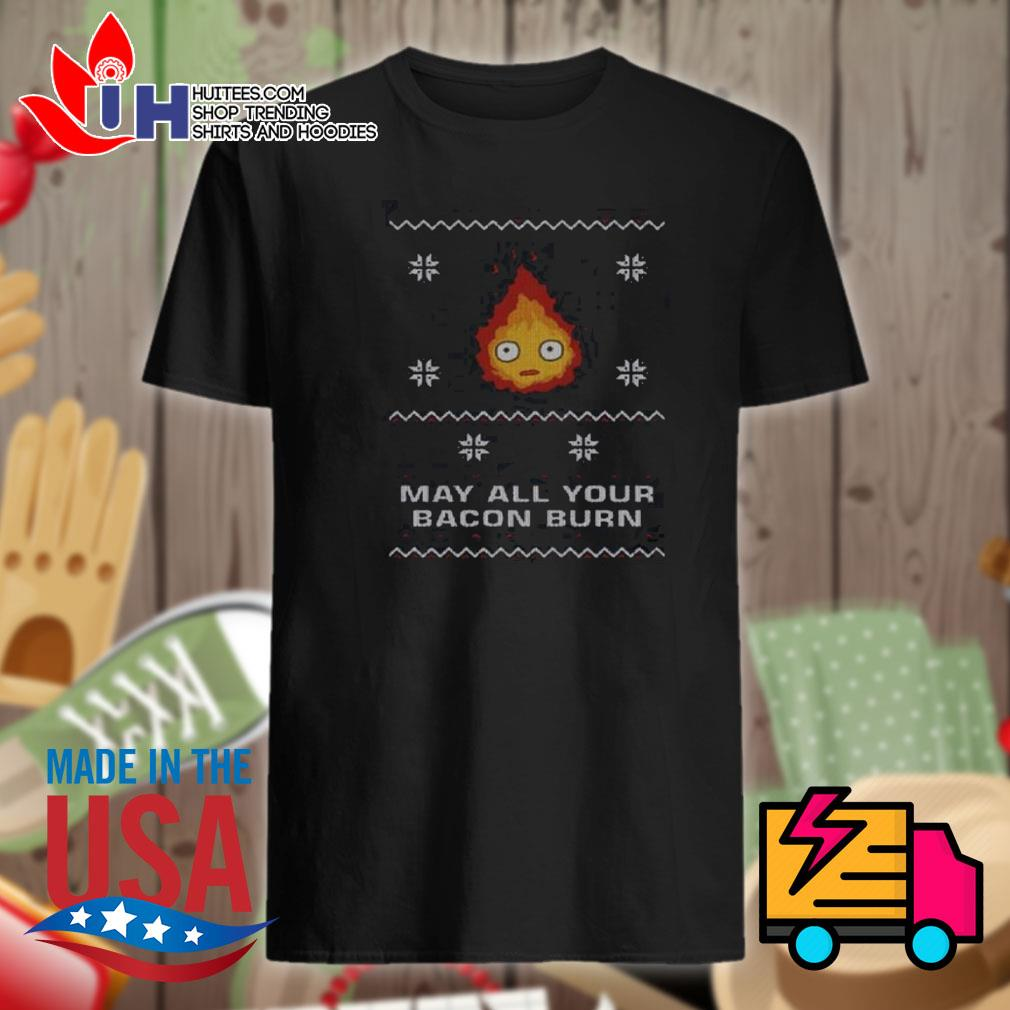 Fire may all your bacon burn ugly Christmas sweater