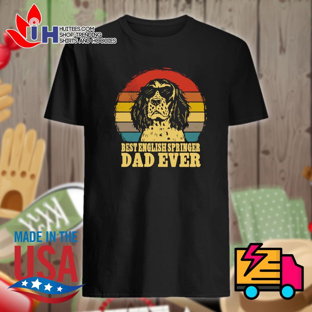 Best English springer dad ever Vintage shirt