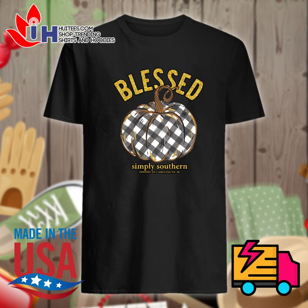 Blessed Simply Southern Pumpkin shirt
