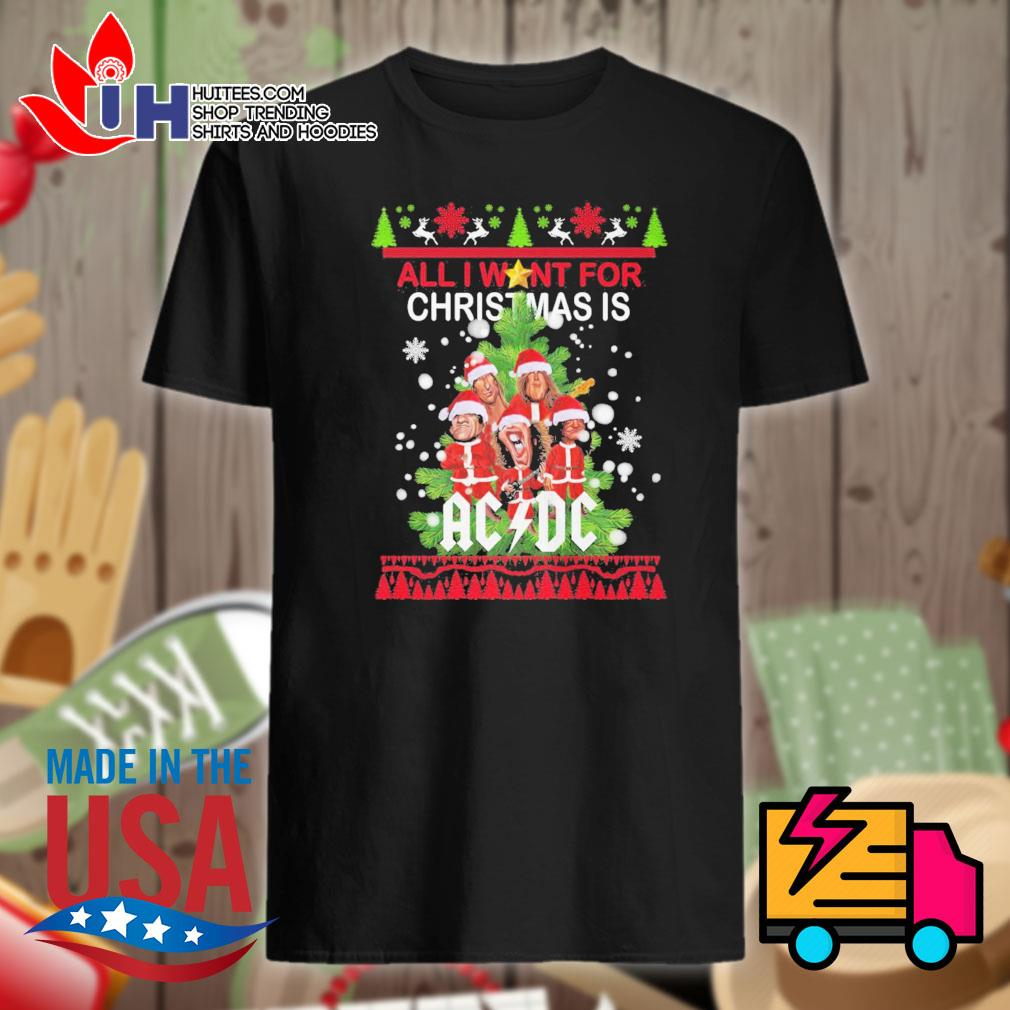All I want for Christmas AC DC ugly Christmas sweater