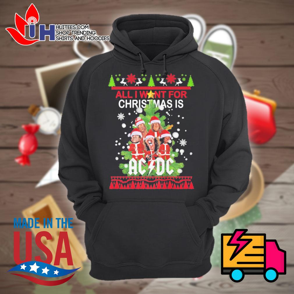 All I want for Christmas AC DC ugly Christmas sweater Hoodie