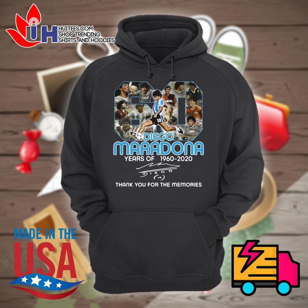 Diego Maradona 60 years of 1960 2020 signature thank you for the memories s Hoodie