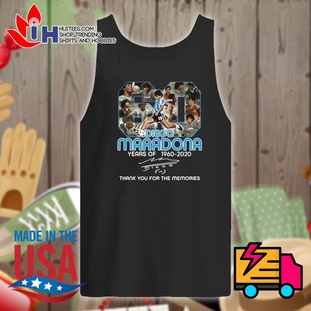 Diego Maradona 60 years of 1960 2020 signature thank you for the memories s Tank-top